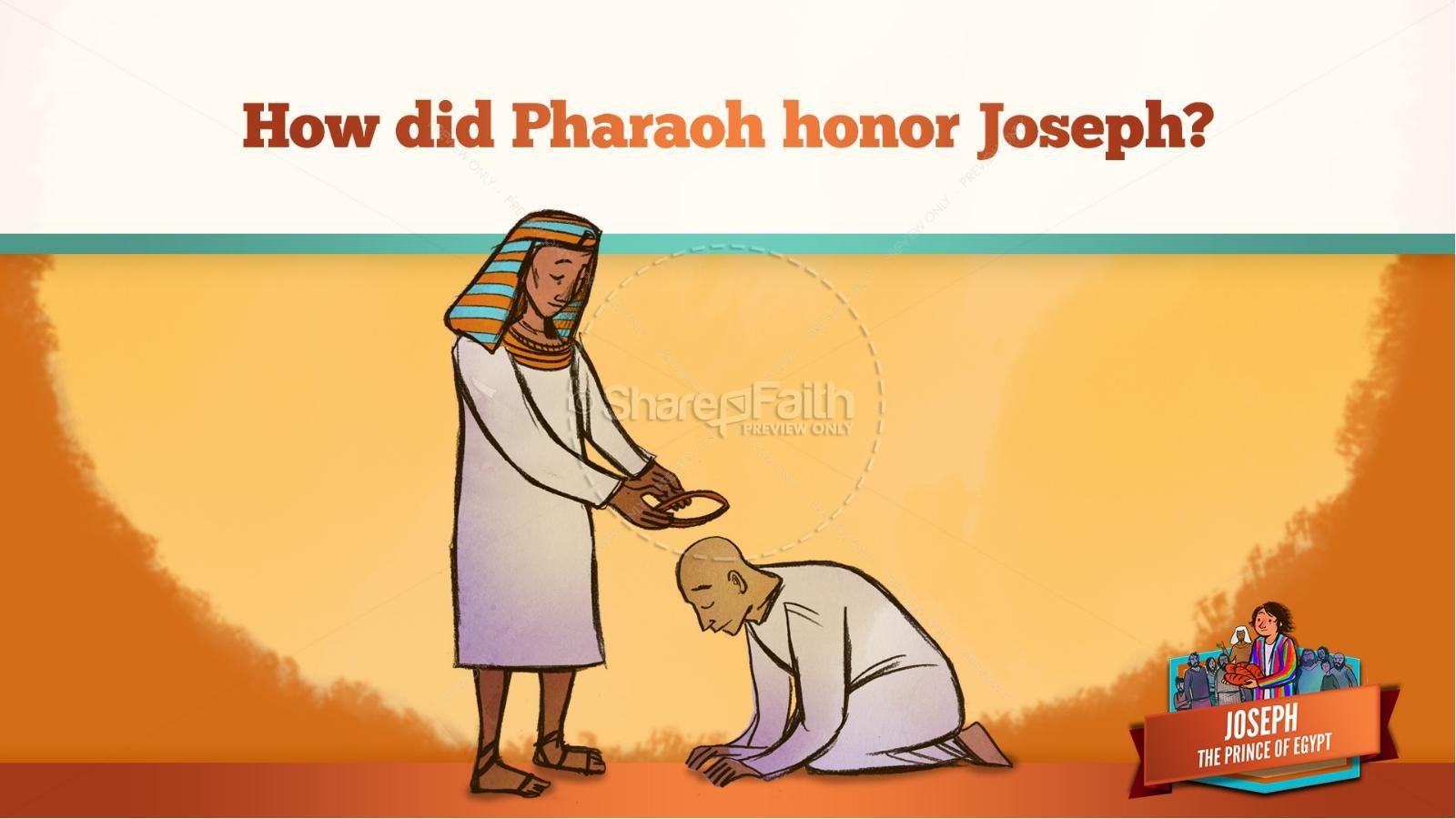 The Story Joseph the Prince of Egypt Kids Bible Lesson | slide 40
