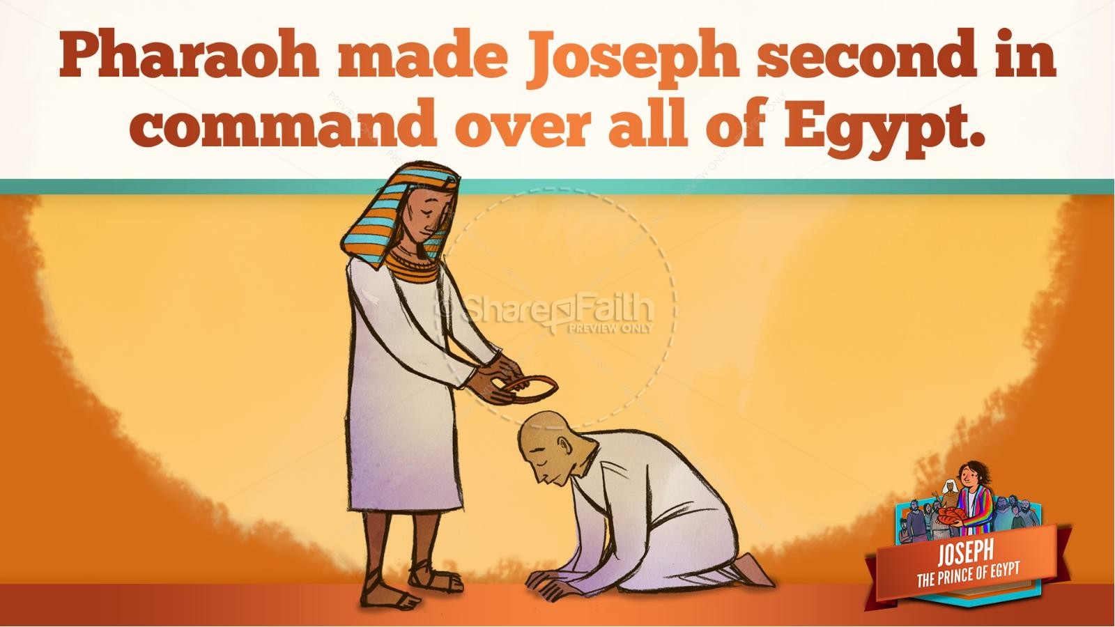 The Story Joseph the Prince of Egypt Kids Bible Lesson | slide 41