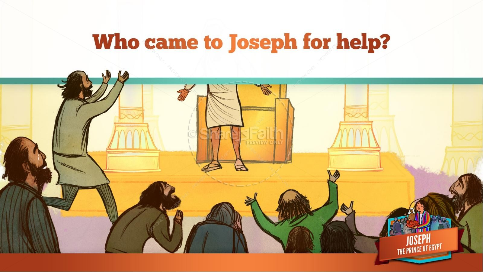 The Story Joseph the Prince of Egypt Kids Bible Lesson | slide 44