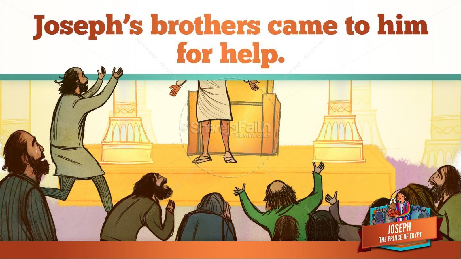 The Story Joseph the Prince of Egypt Kids Bible Lesson | slide 45