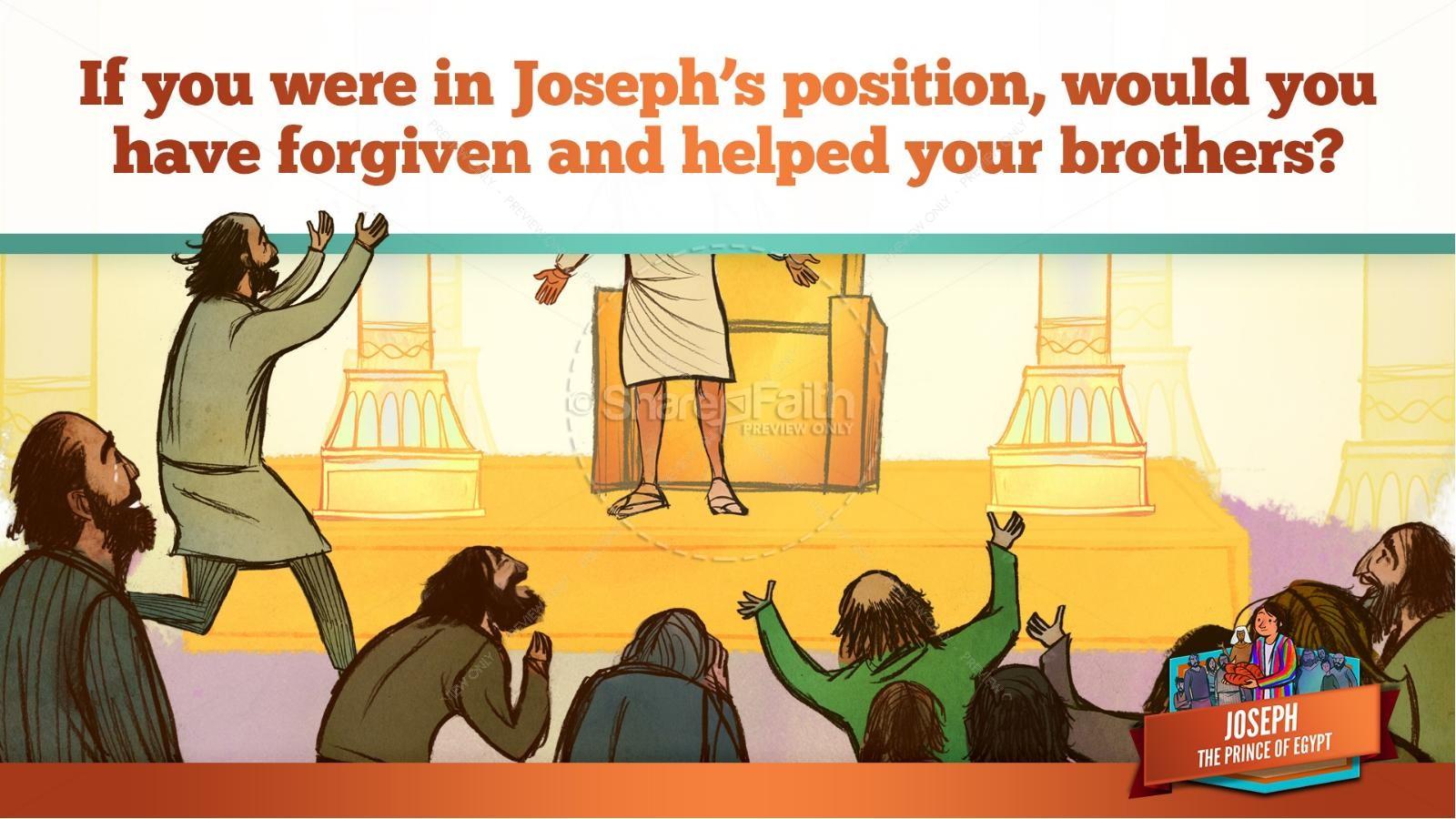 The Story Joseph the Prince of Egypt Kids Bible Lesson | slide 46