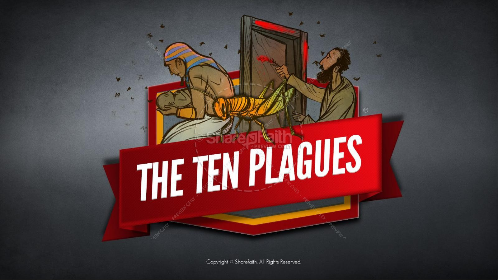 The Ten Plagues Kids Bible Story