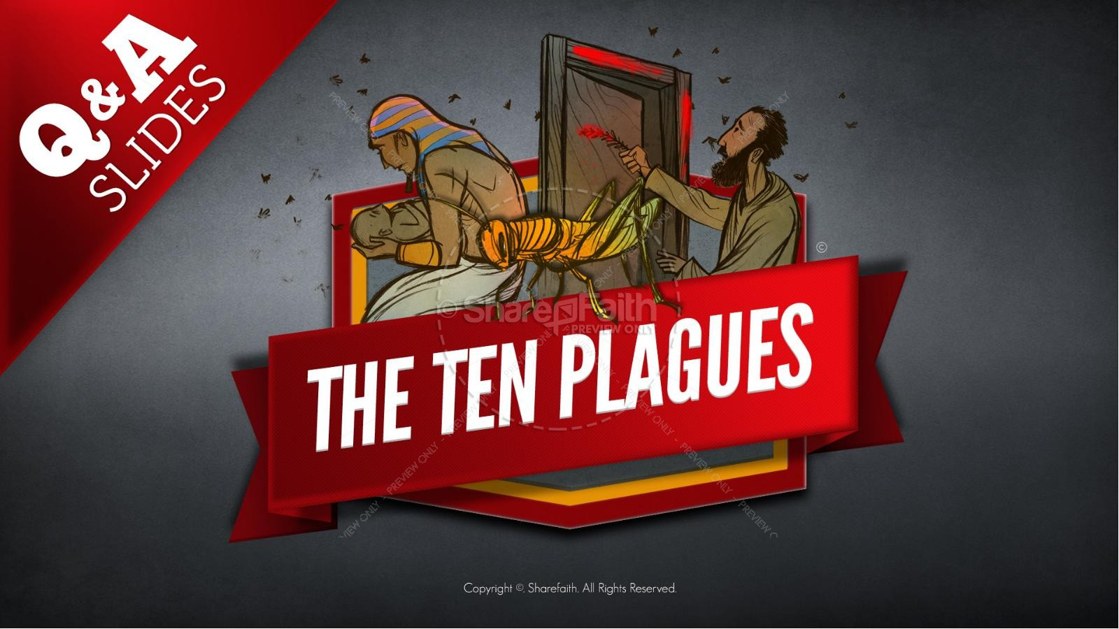 The Ten Plagues Kids Bible Story | slide 22