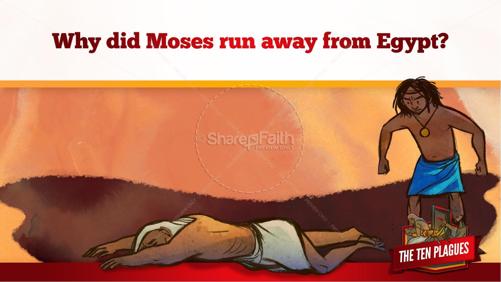 The Ten Plagues Kids Bible Story | slide 32