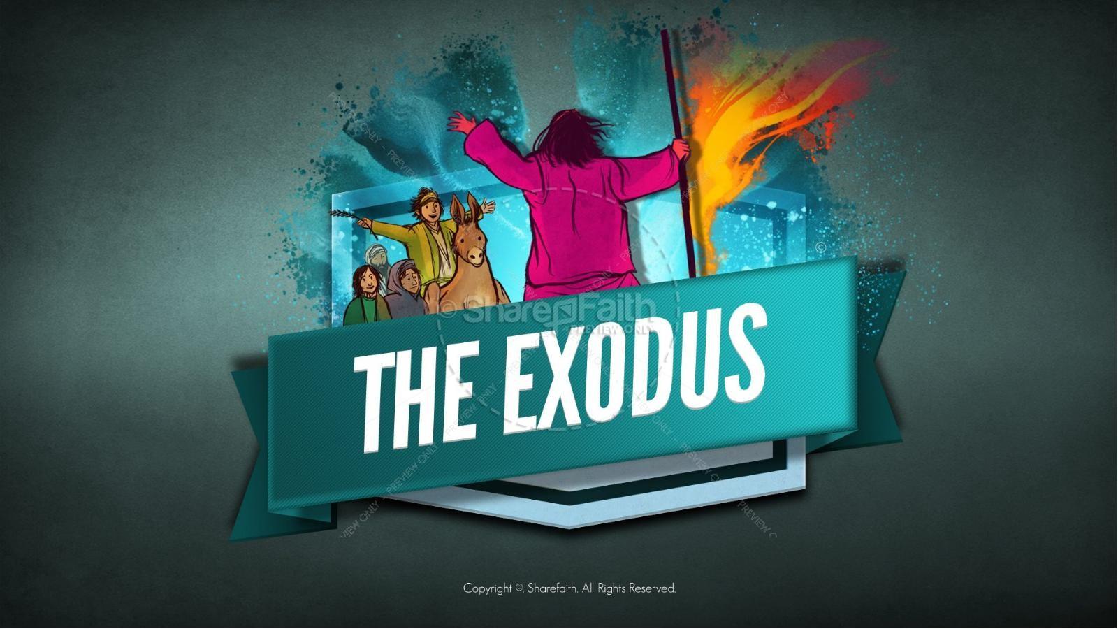 The Exodus Story Kids Bible Lesson | slide 1