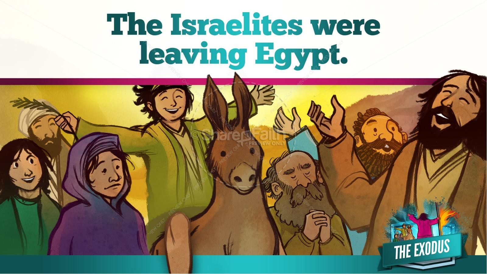 The Exodus Story Kids Bible Lesson | slide 13