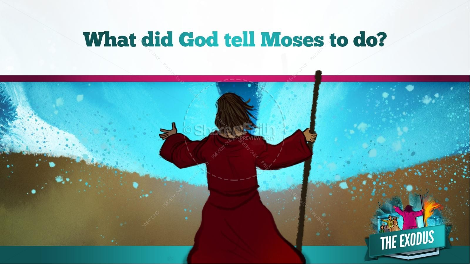 The Exodus Story Kids Bible Lesson | slide 24