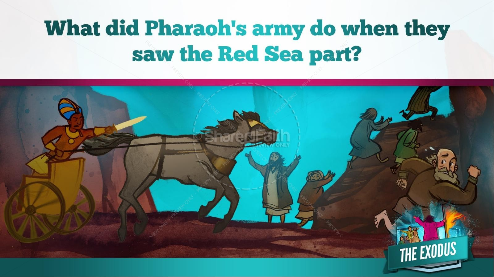 The Exodus Story Kids Bible Lesson | slide 28