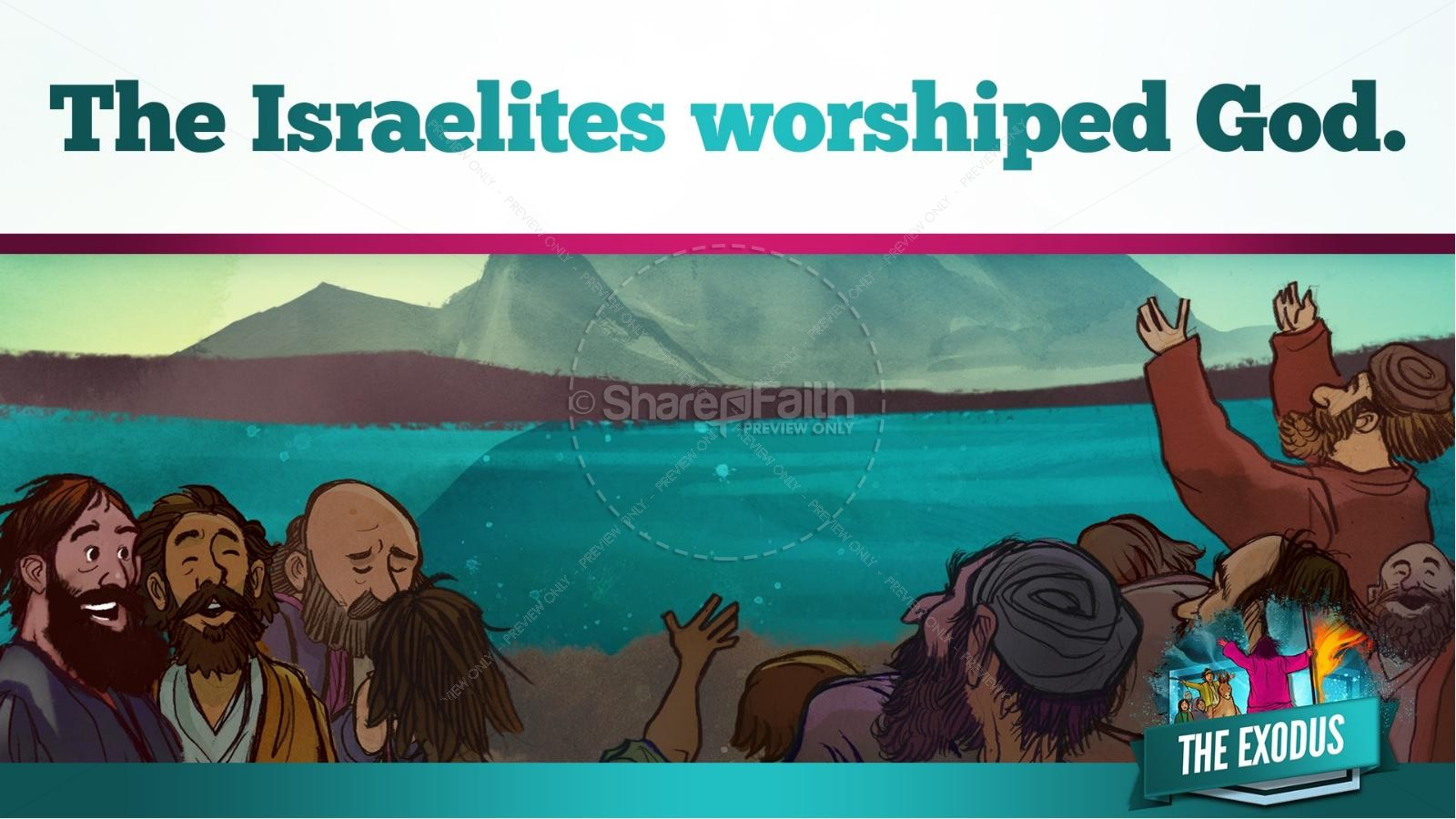 The Exodus Story Kids Bible Lesson | slide 33
