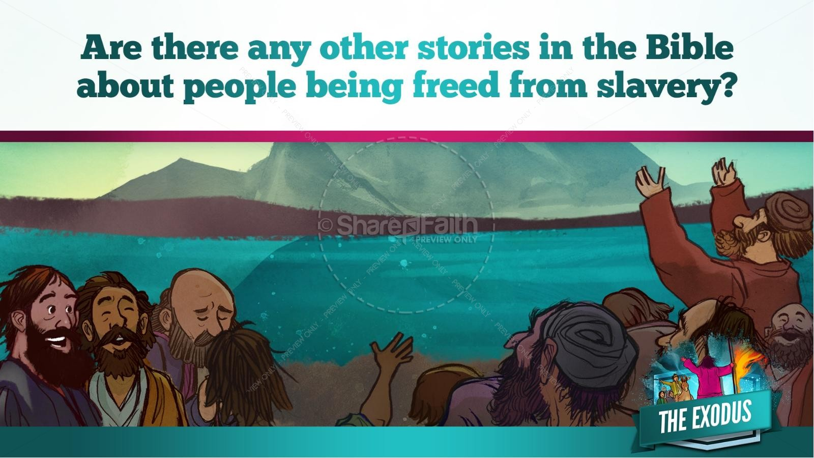 The Exodus Story Kids Bible Lesson | slide 34