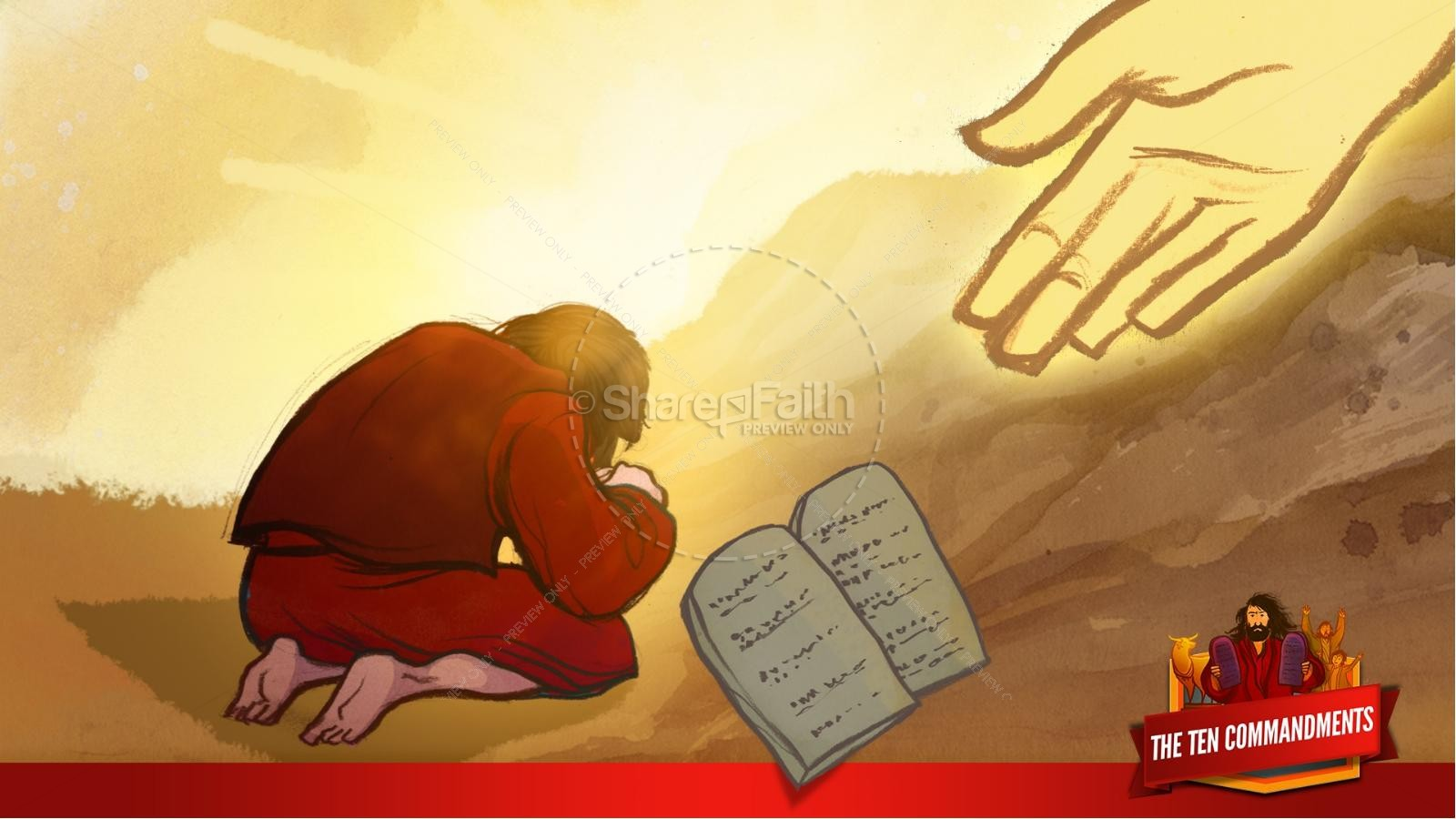 The Ten Commandments Kids Bible Stories | slide 13