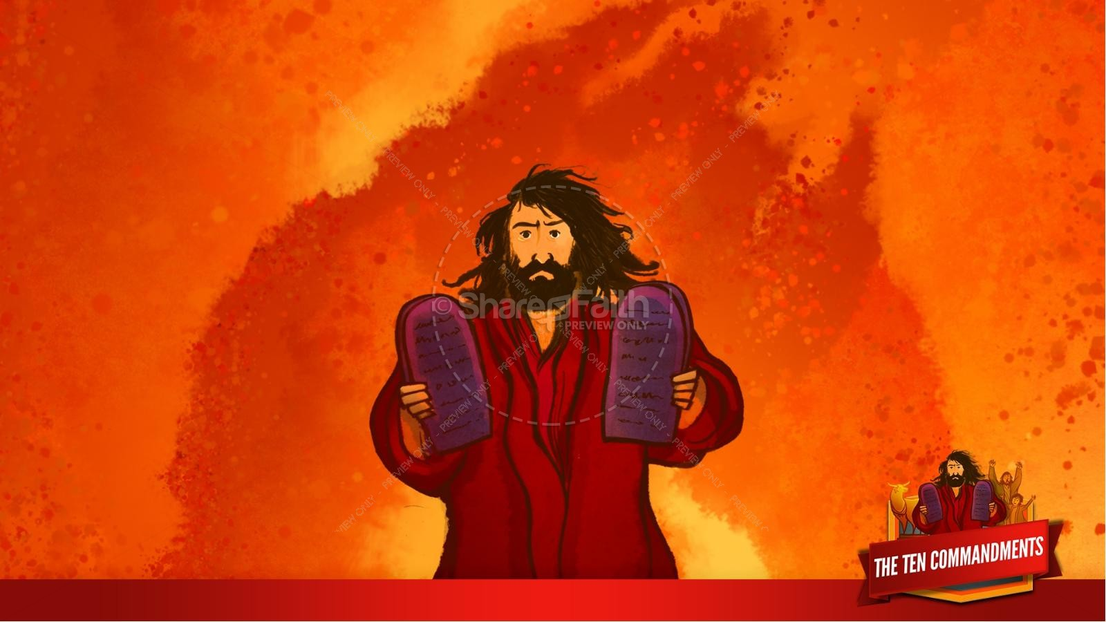 The Ten Commandments Kids Bible Stories