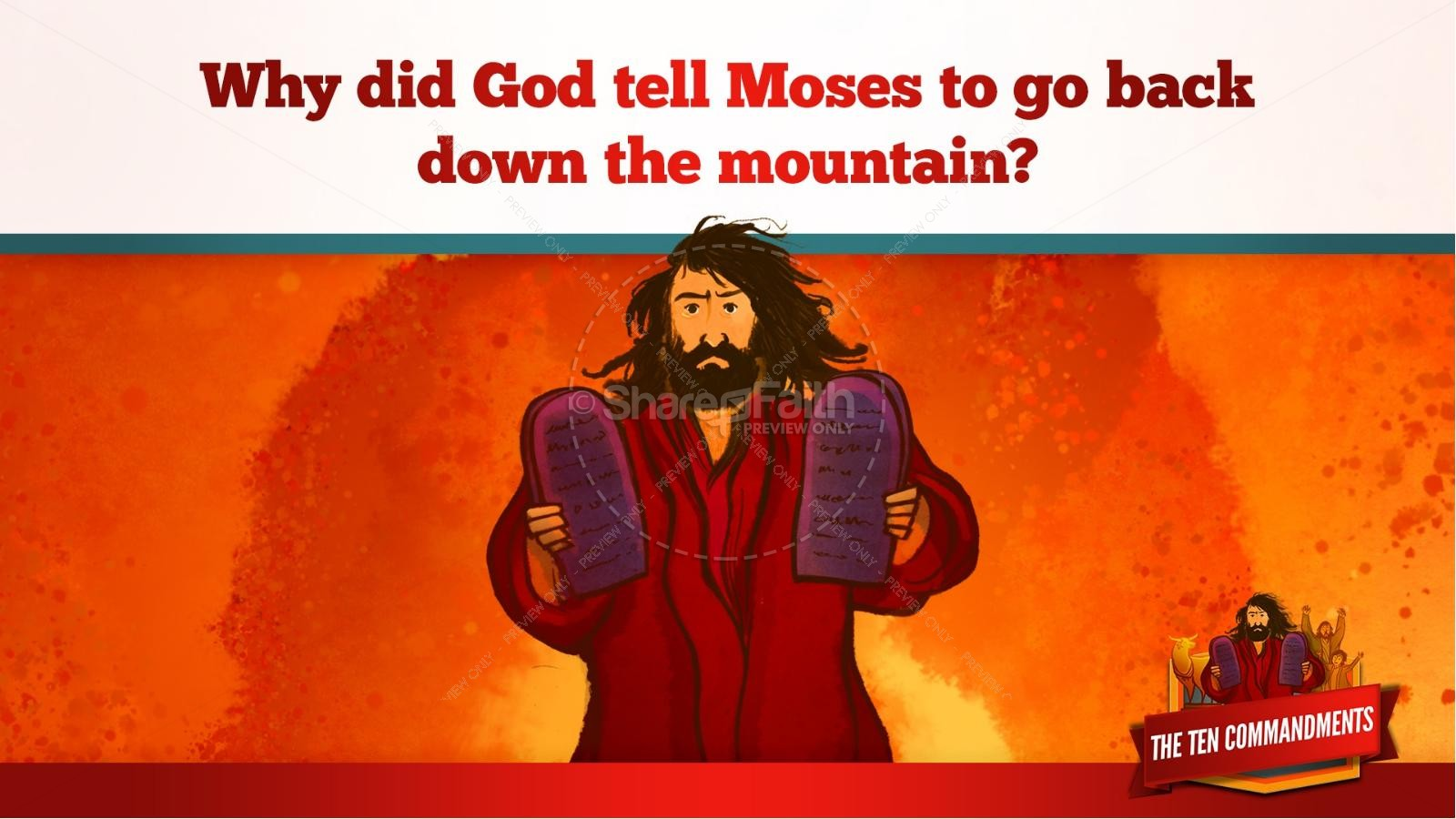 The Ten Commandments Kids Bible Stories | slide 18