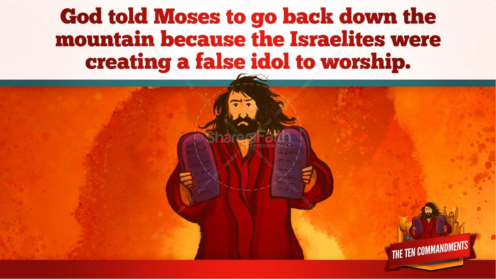 The Ten Commandments Kids Bible Stories | slide 19
