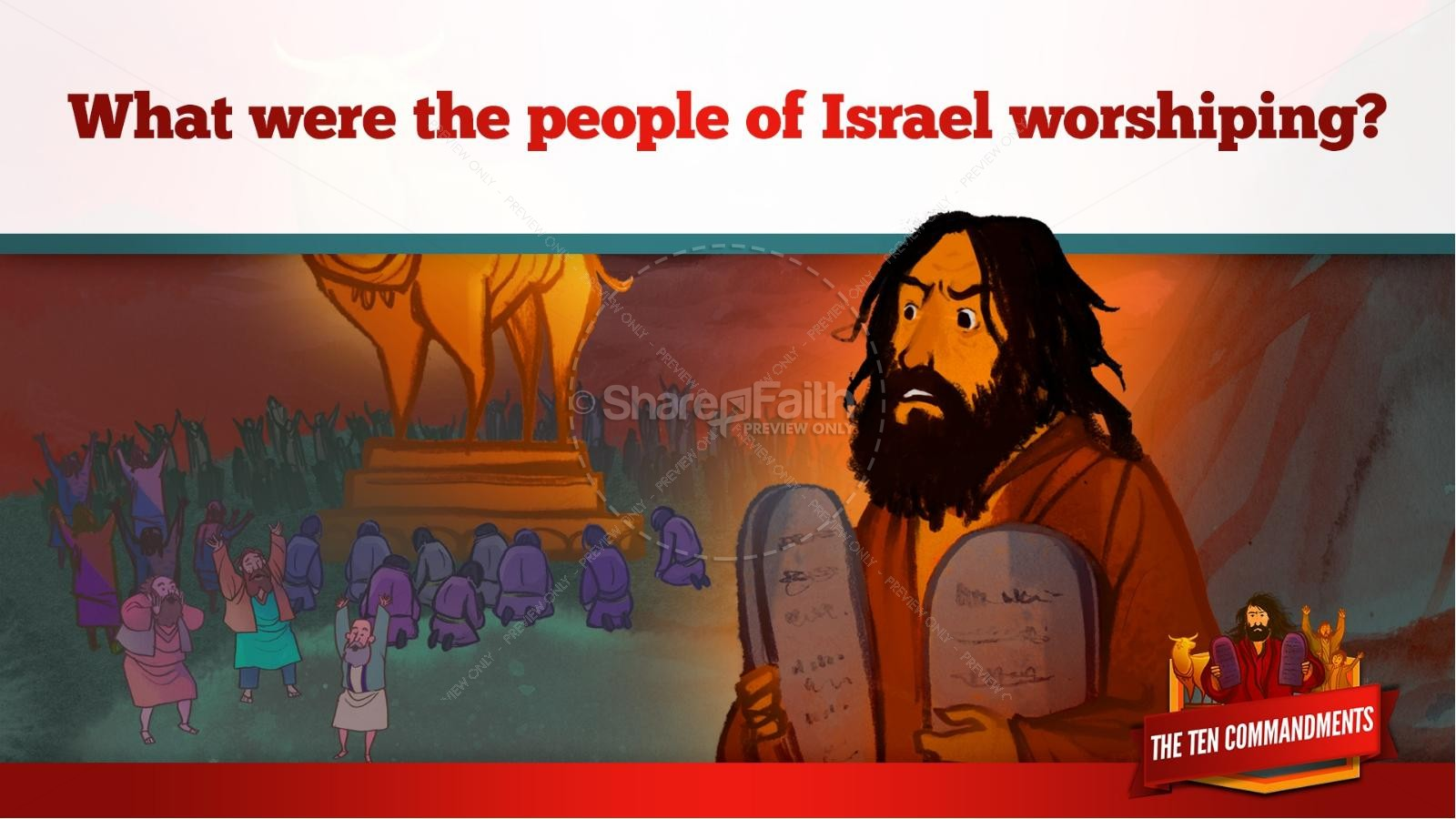 The Ten Commandments Kids Bible Stories | slide 22