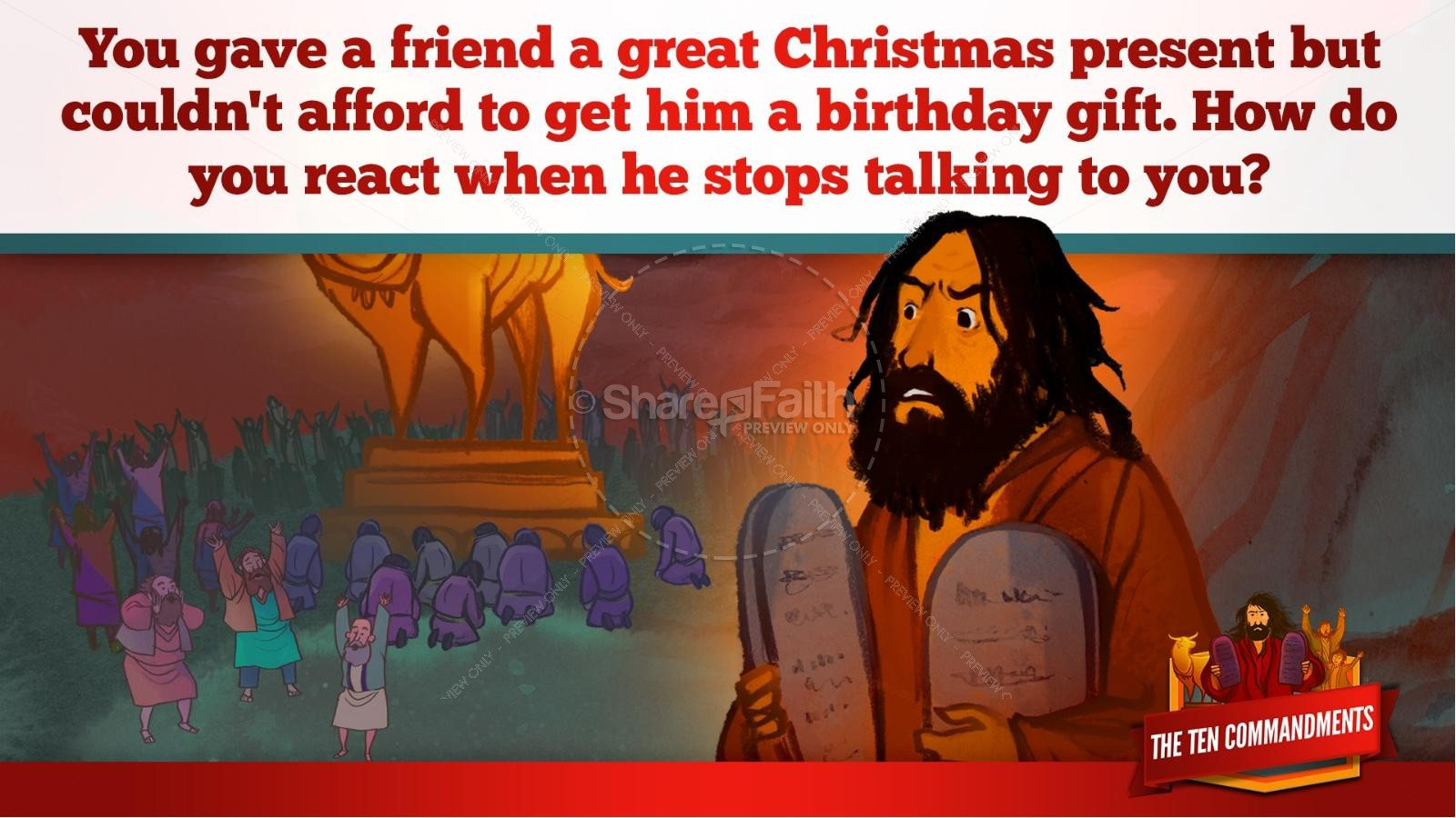 The Ten Commandments Kids Bible Stories | slide 24