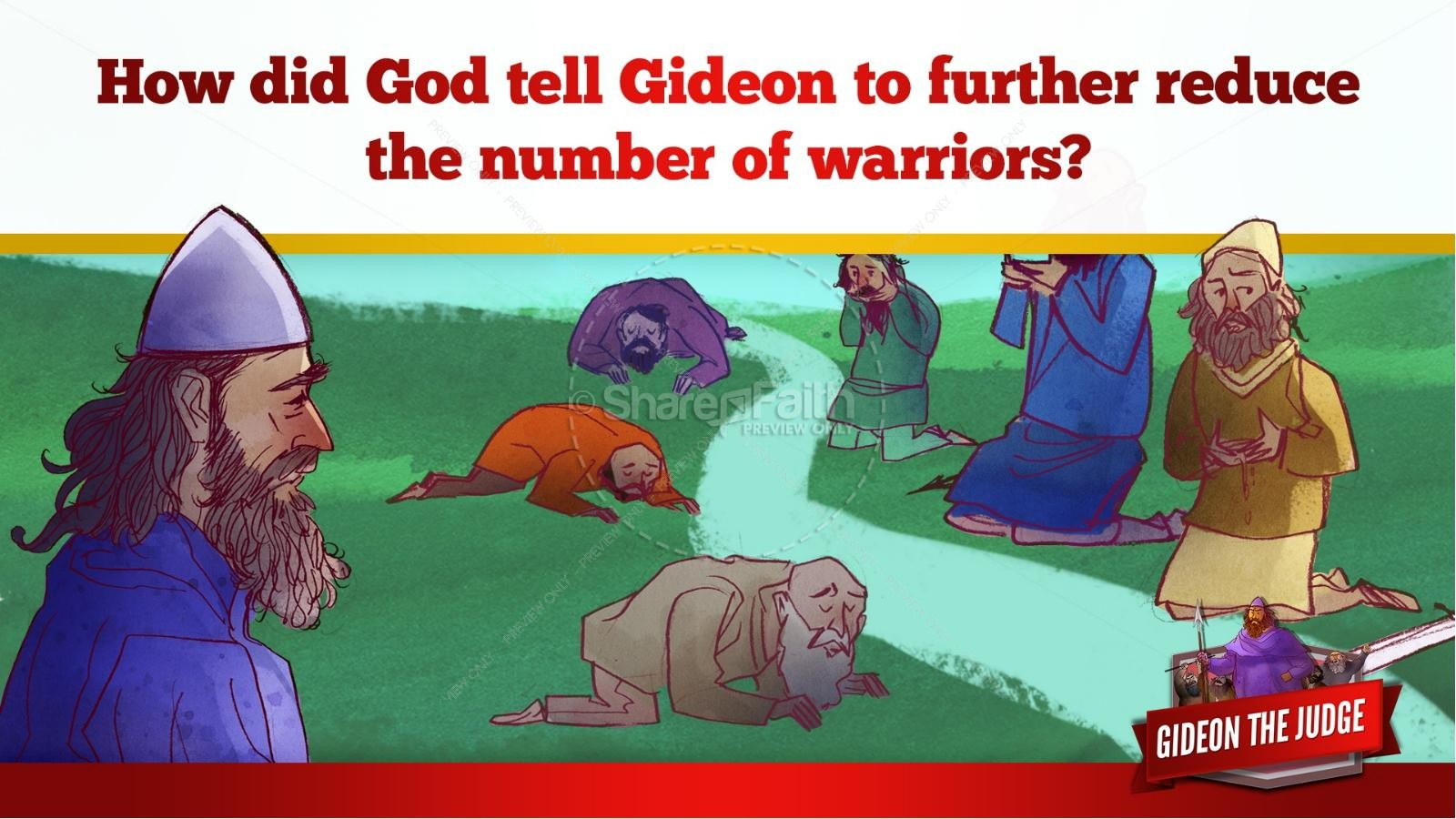 Judges 6 Gideon and the 300 Kids Bible Lesson