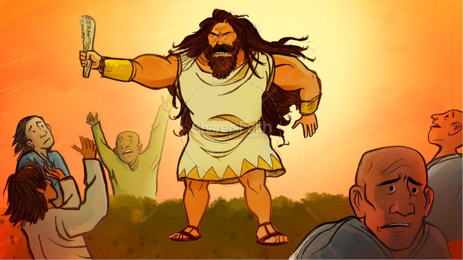 Samson and Delilah Kids Bible Stories | slide 12