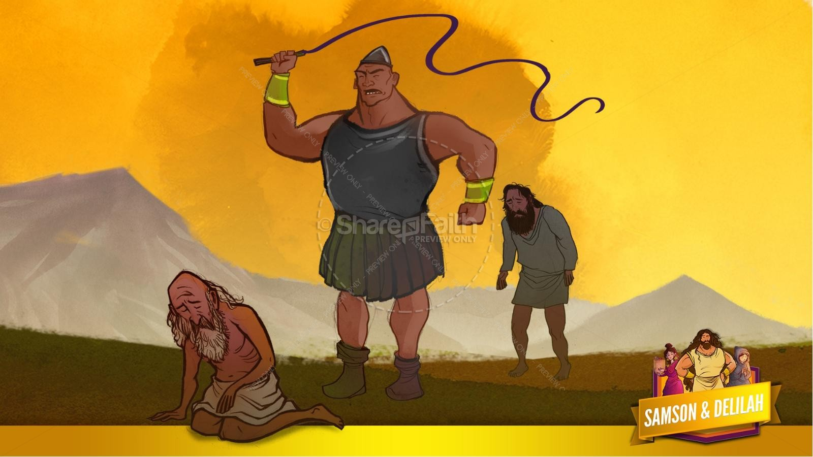 Samson and Delilah Kids Bible Stories | slide 19