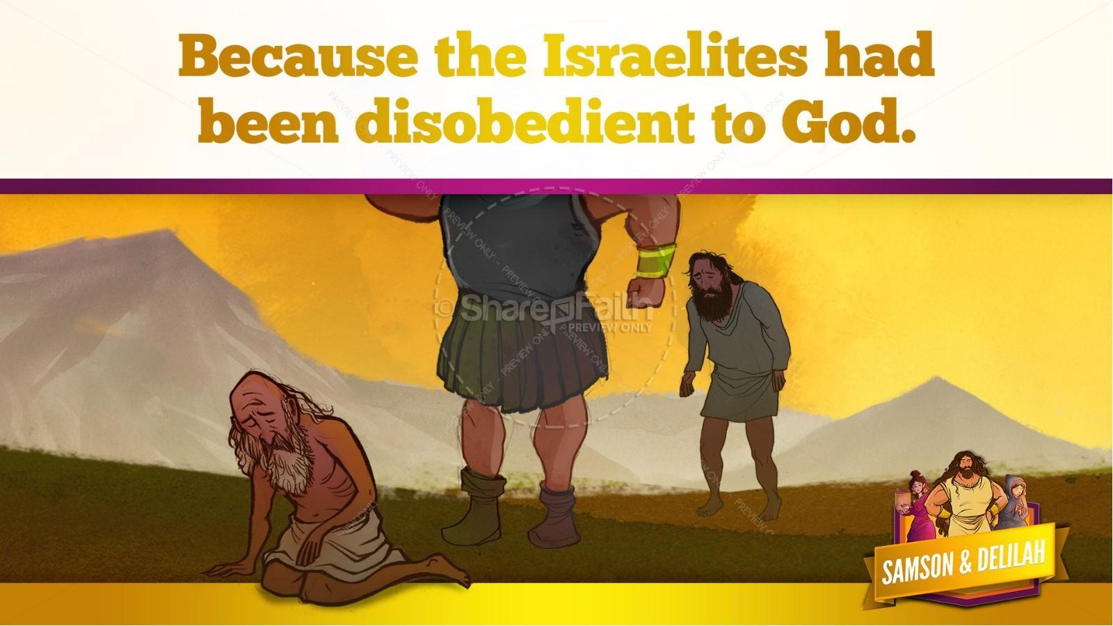 Samson and Delilah Kids Bible Stories | slide 21