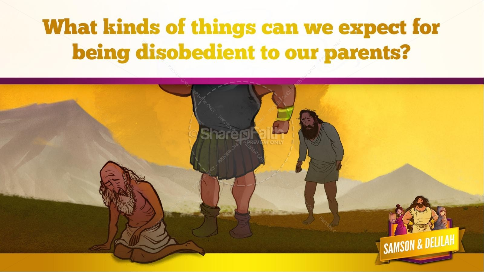 Samson and Delilah Kids Bible Stories | slide 22