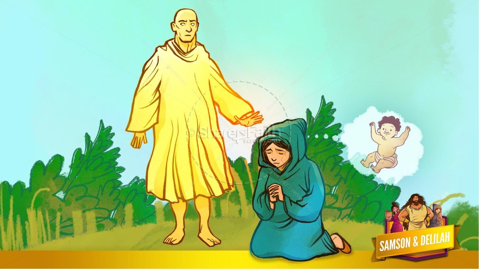 Samson and Delilah Kids Bible Stories | slide 23
