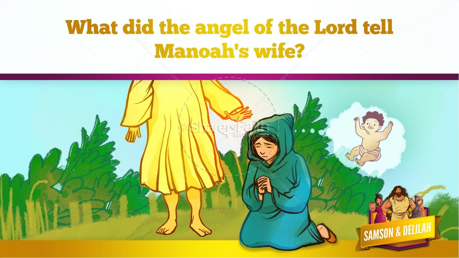 Samson and Delilah Kids Bible Stories | slide 24