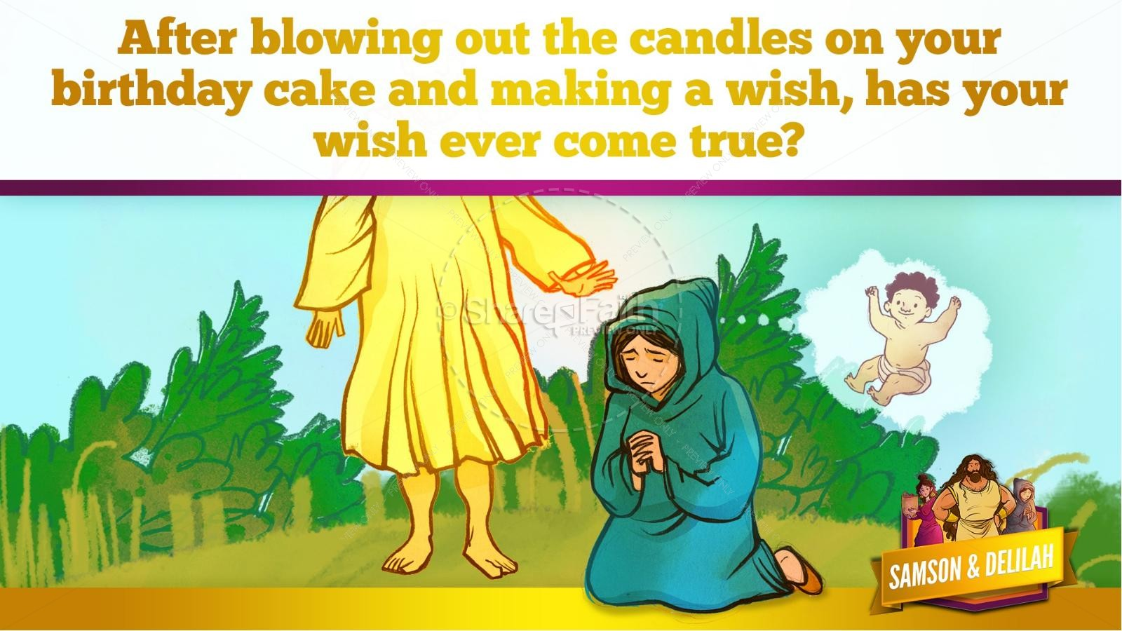 Samson and Delilah Kids Bible Stories | slide 26