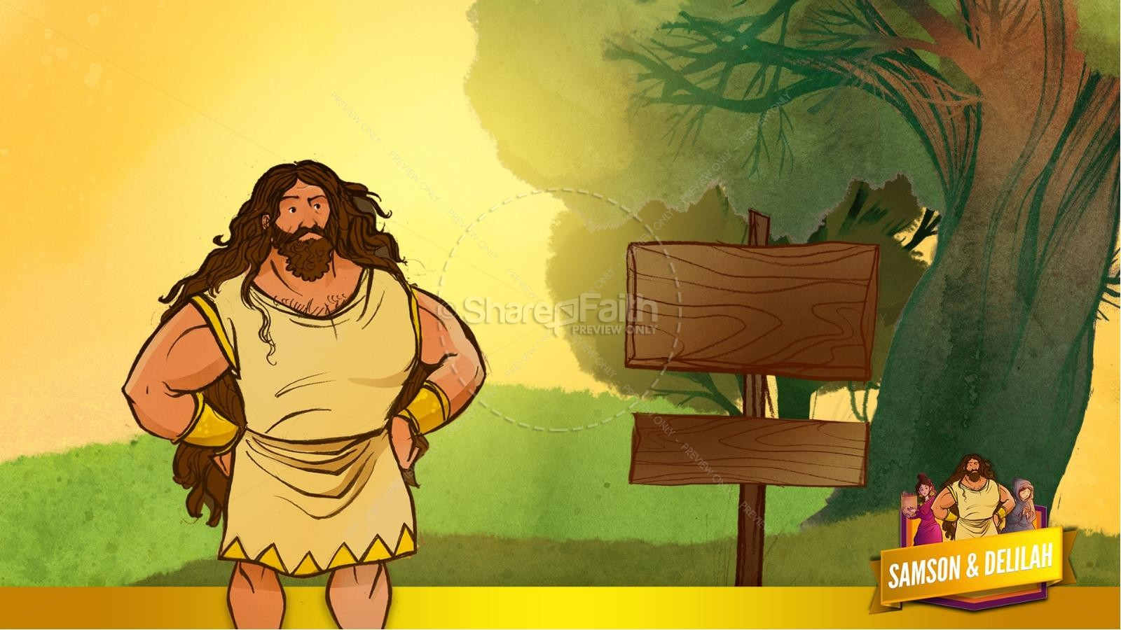 Samson and Delilah Kids Bible Stories | slide 27