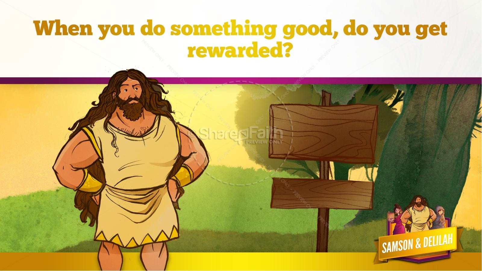 Samson and Delilah Kids Bible Stories | slide 30
