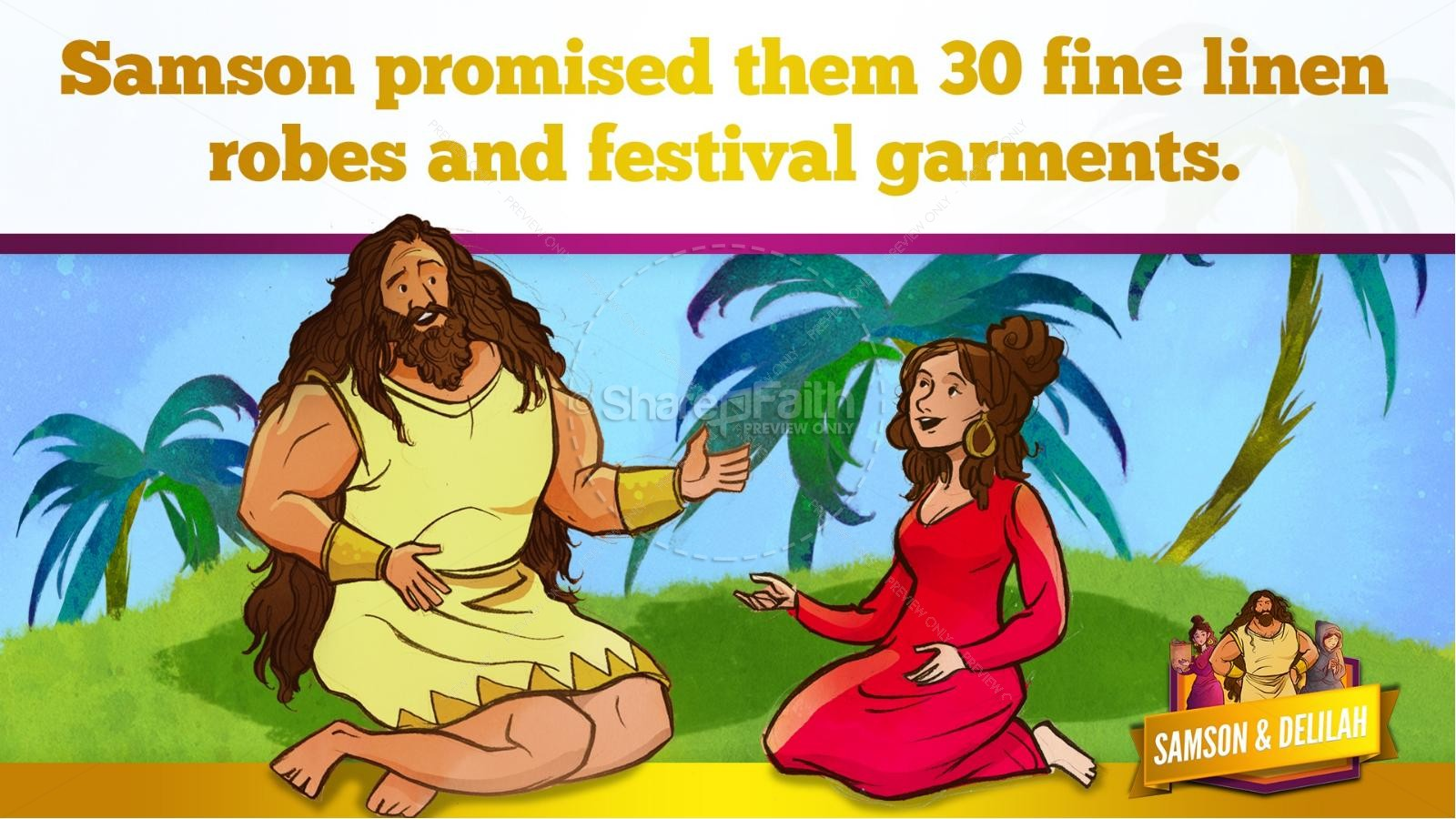 Samson and Delilah Kids Bible Stories | slide 37