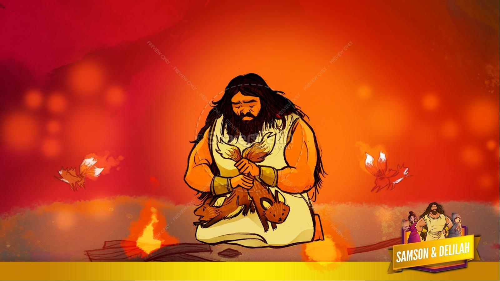 Samson and Delilah Kids Bible Stories | slide 39