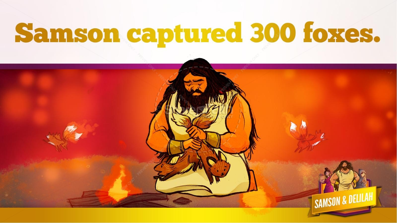 Samson and Delilah Kids Bible Stories | slide 41