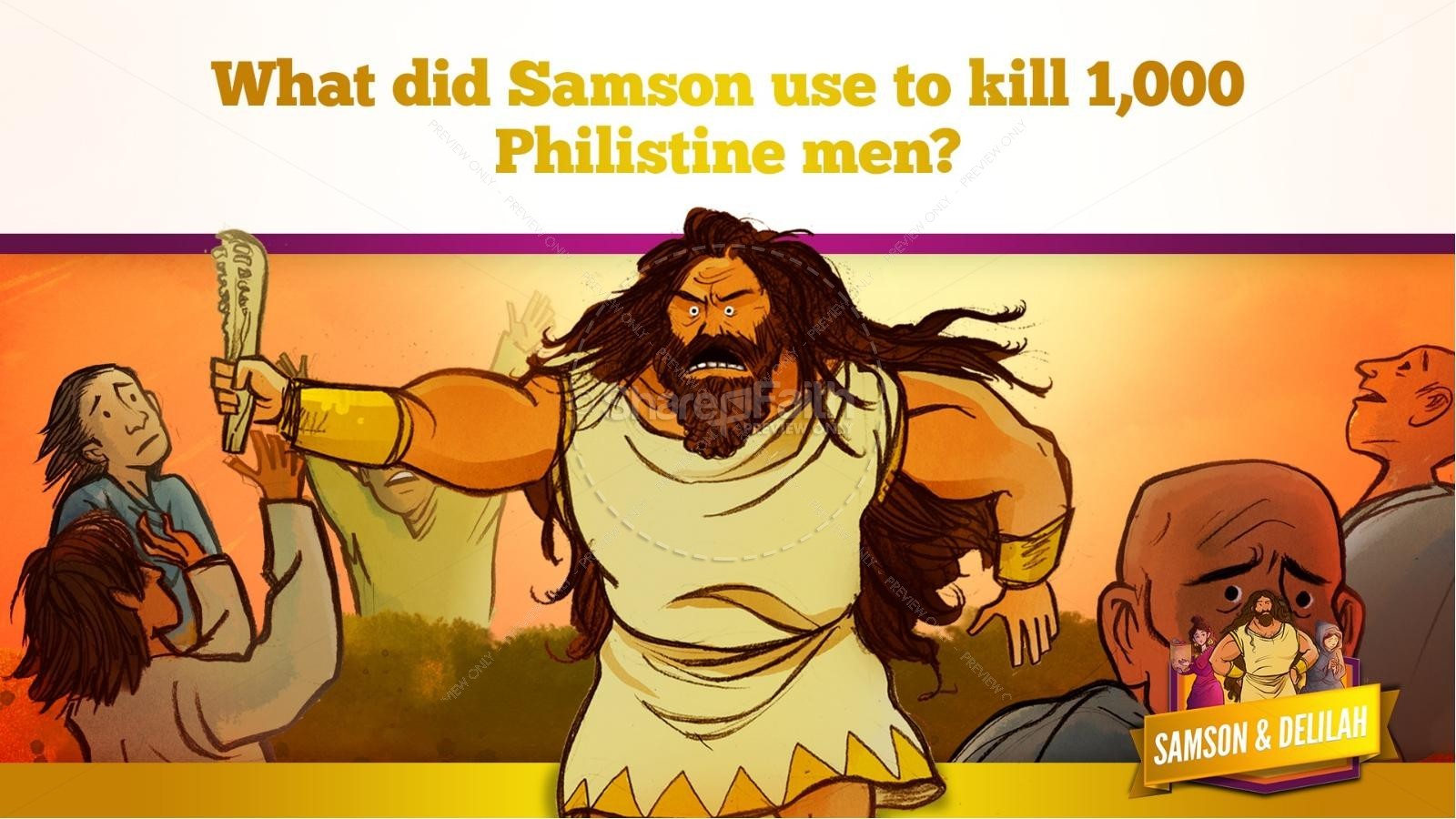 Samson and Delilah Kids Bible Stories | slide 44