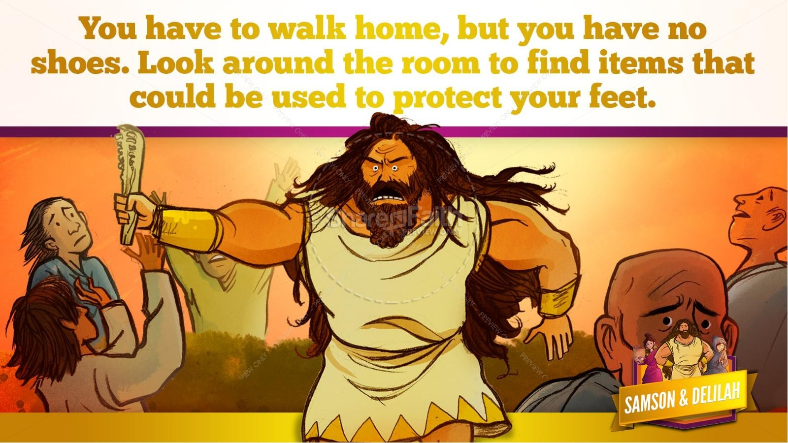 Samson and Delilah Kids Bible Stories | slide 46