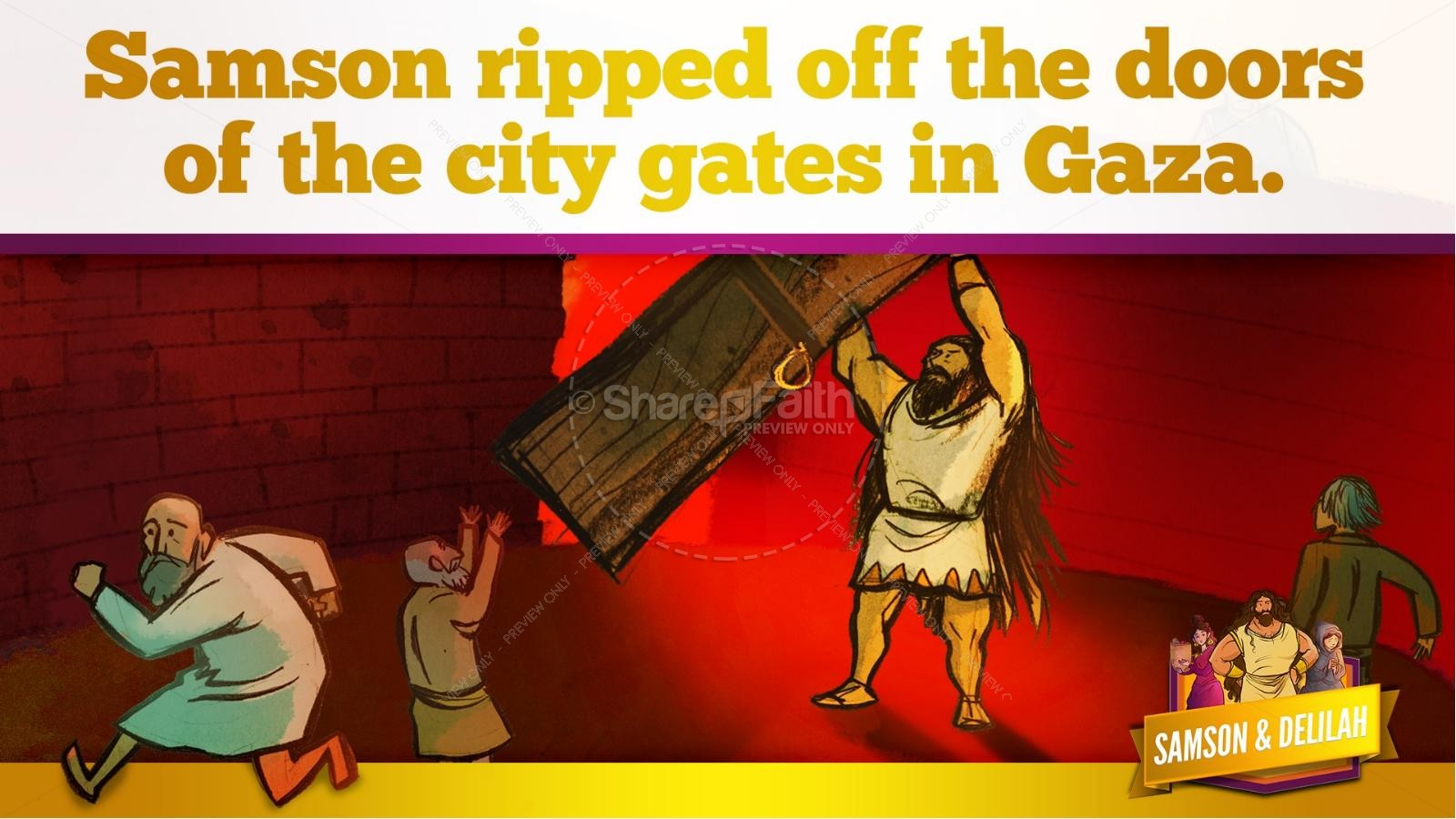 Samson and Delilah Kids Bible Stories | slide 49