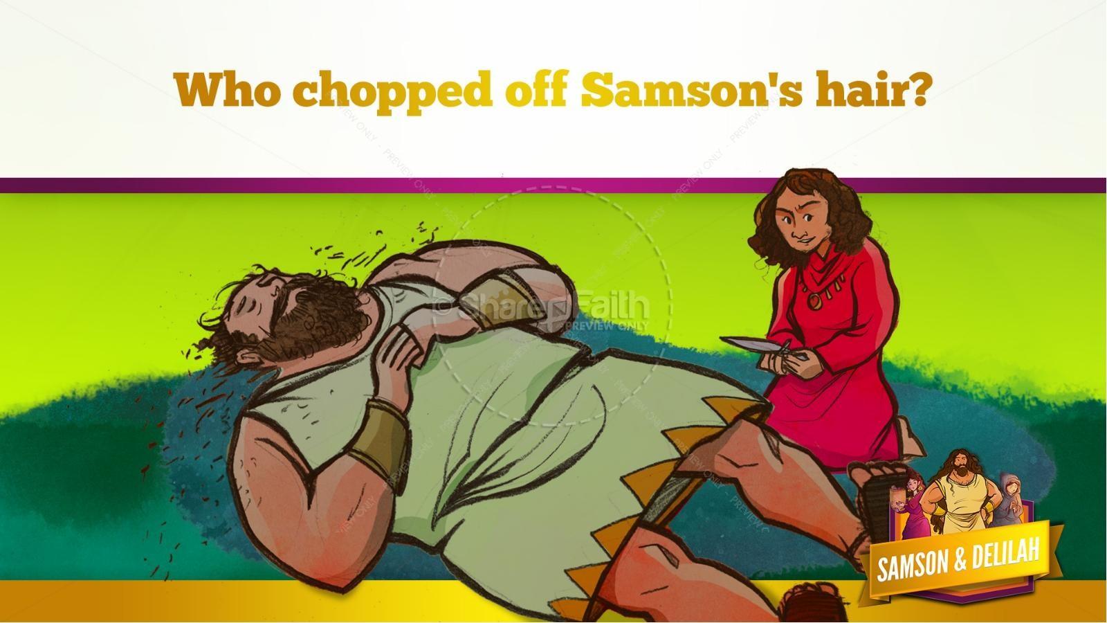 Samson and Delilah Kids Bible Stories | slide 52