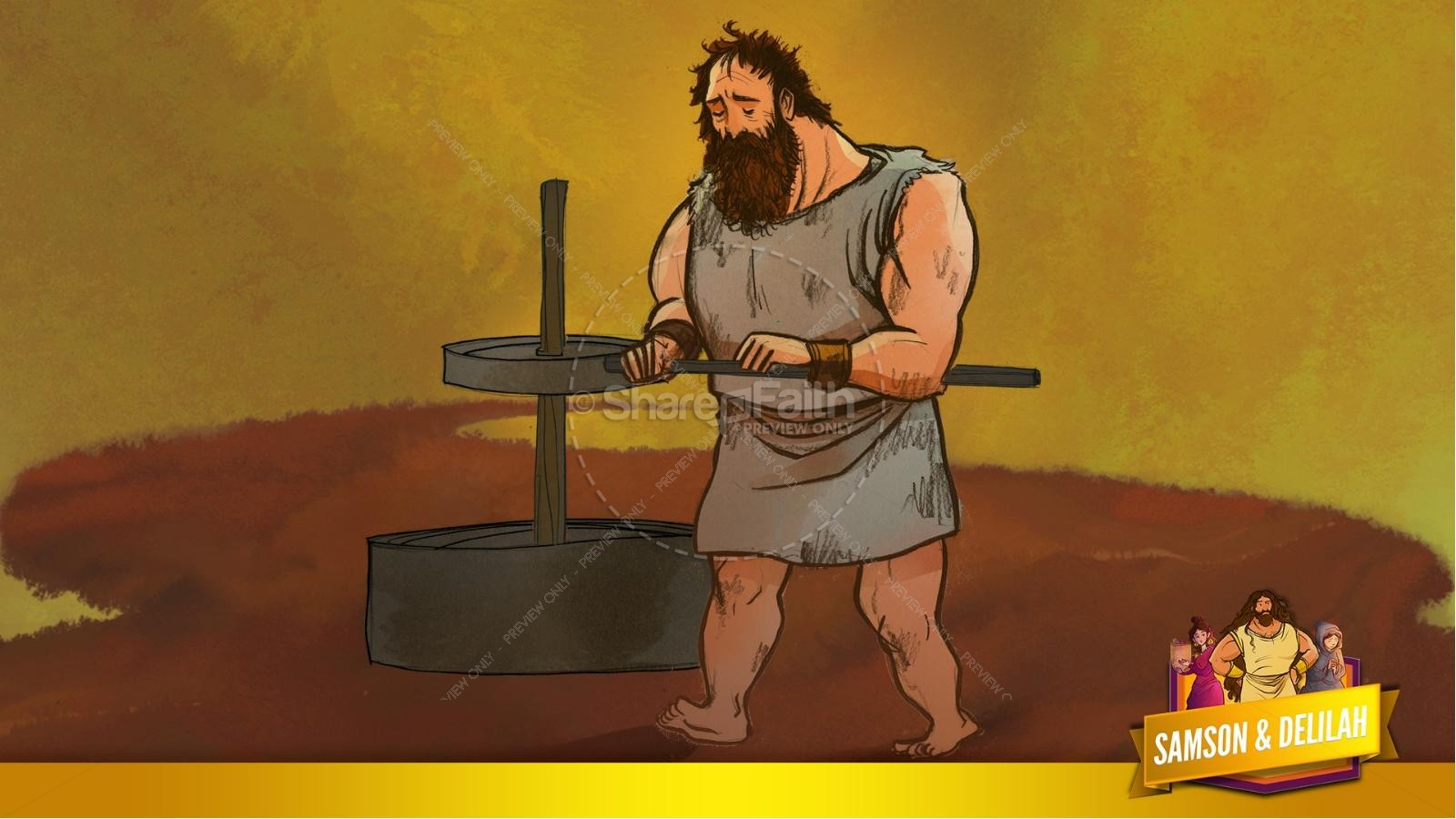 Samson and Delilah Kids Bible Stories | slide 55