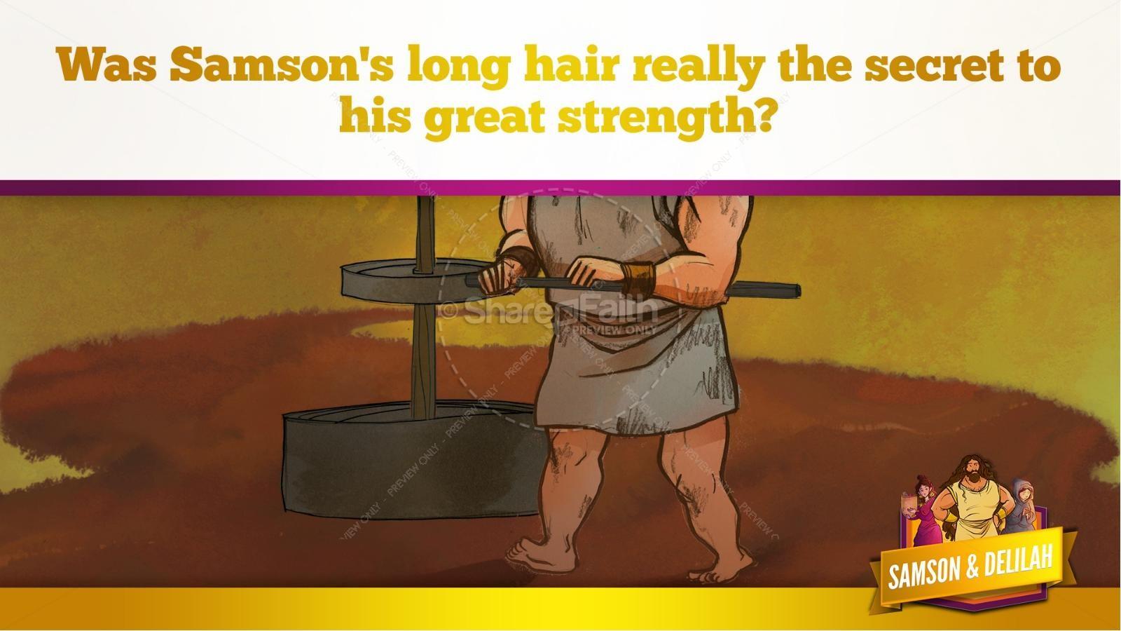 Samson and Delilah Kids Bible Stories   slide 58
