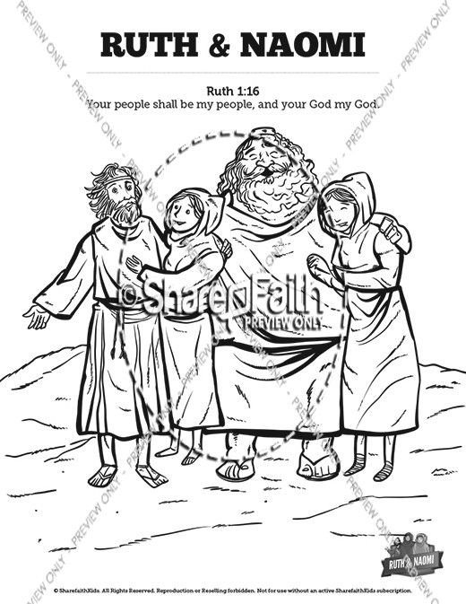 ruth and naomi coloring pages - ruth and naomi bible mazes bible mazes