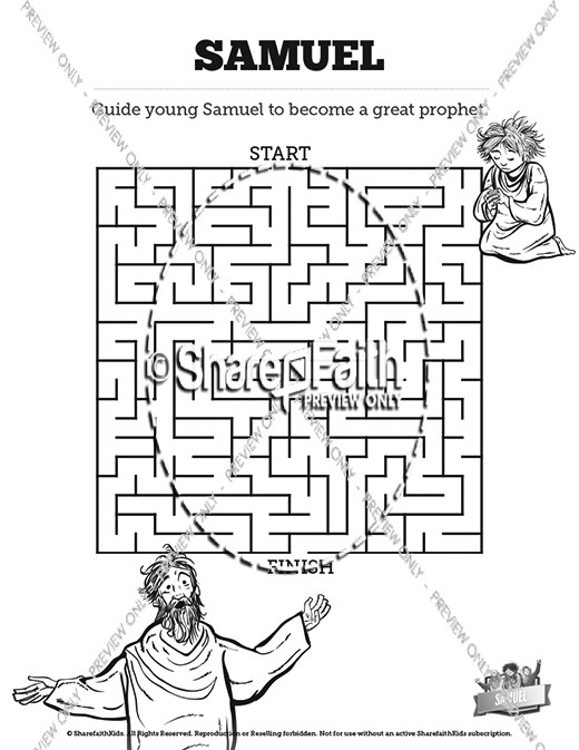 The Story Of Samuel Bible Mazes | Bible Mazes