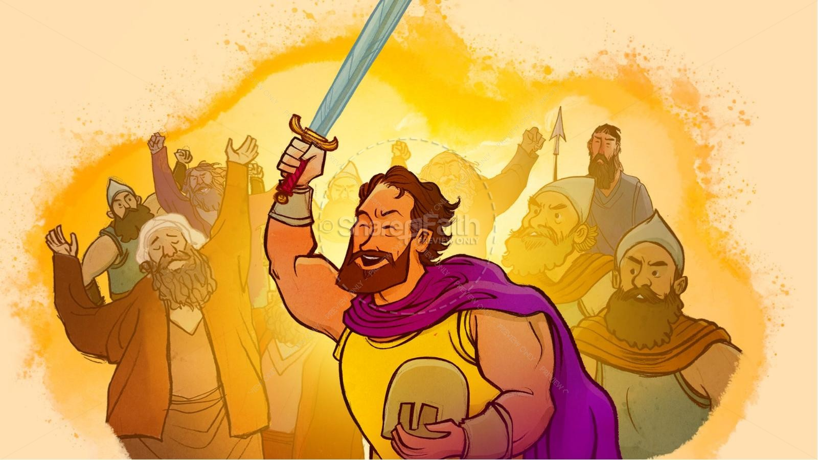 King Saul Kids Bible Story