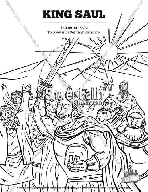King Saul Bible Mazes Bible Mazes King Saul Coloring Pages
