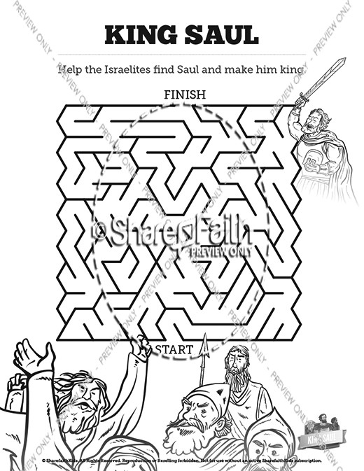 King Saul Sunday School Coloring Pages Sunday School