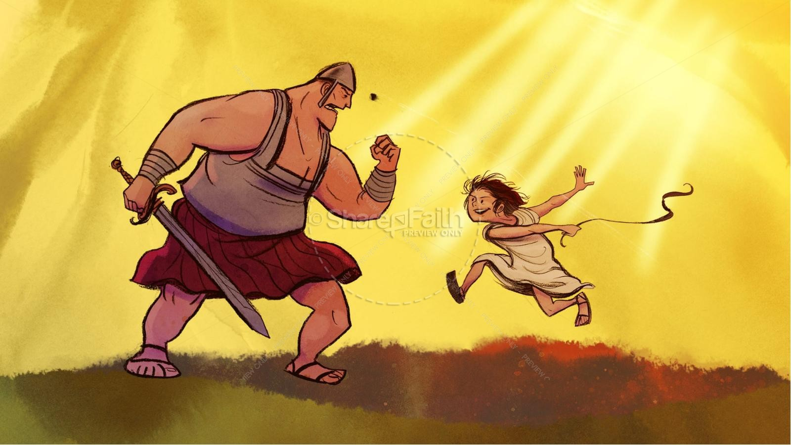 David and Goliath Kids Bible Story