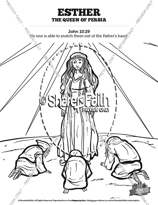 queen esther sunday school coloring pages sunday school