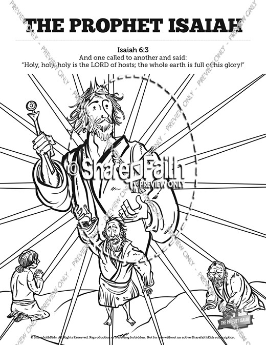 the prophet isaiah sunday school coloring pages sunday. Black Bedroom Furniture Sets. Home Design Ideas