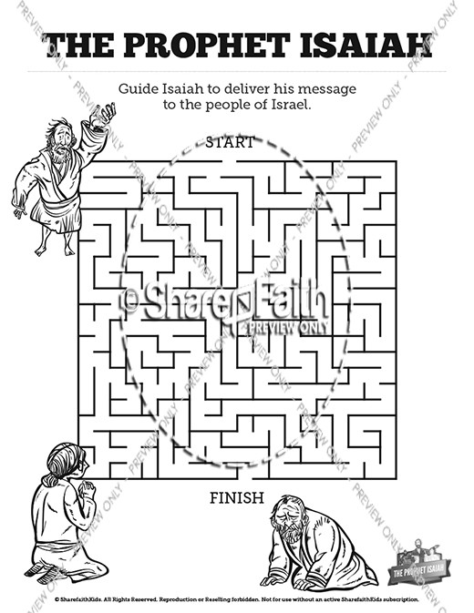 The prophet isaiah kids bible story kids bible stories for Prophet isaiah coloring page