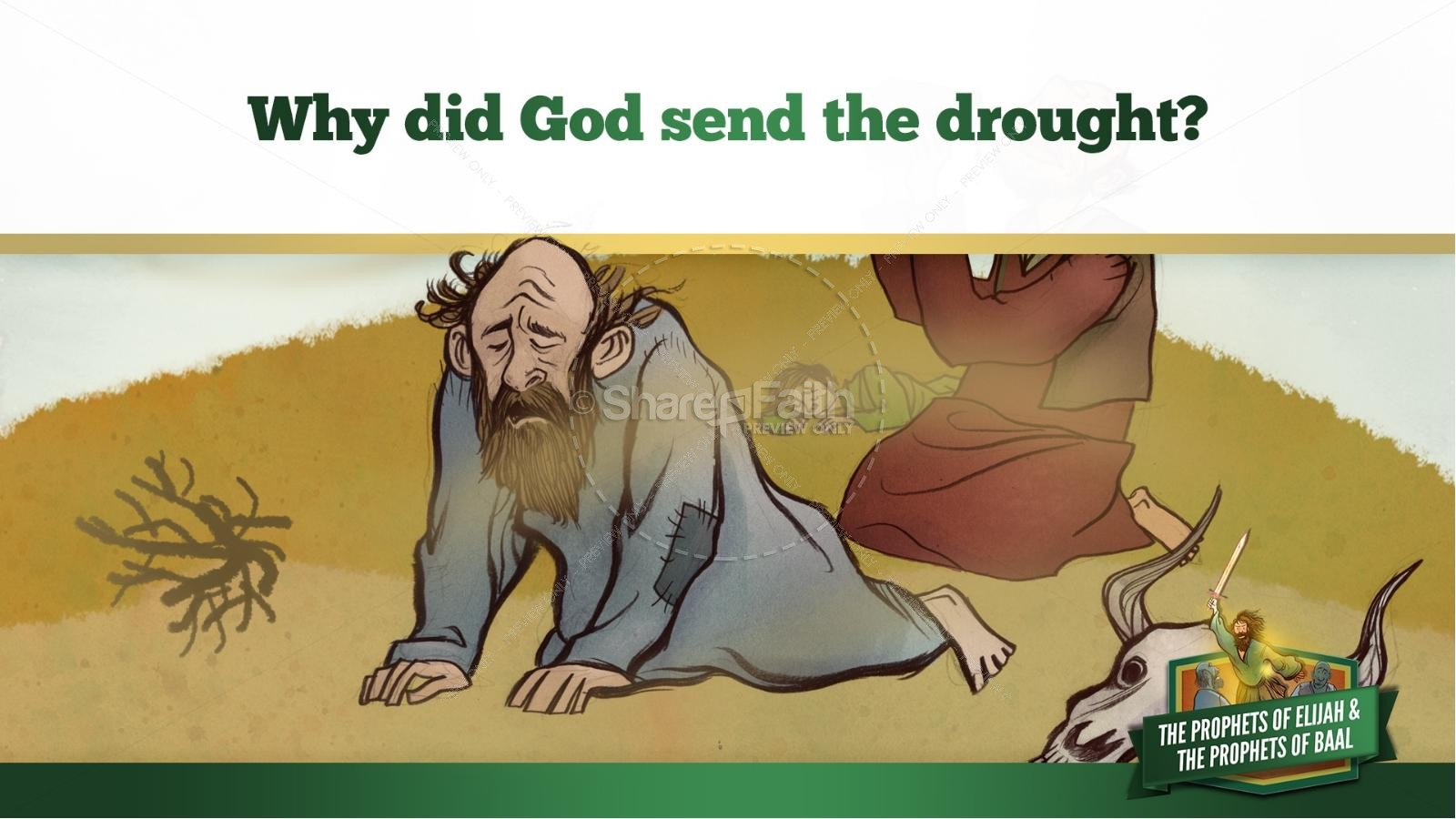 Elijah The Prophet 1 Kings 18 Kids Bible Stories | slide 11