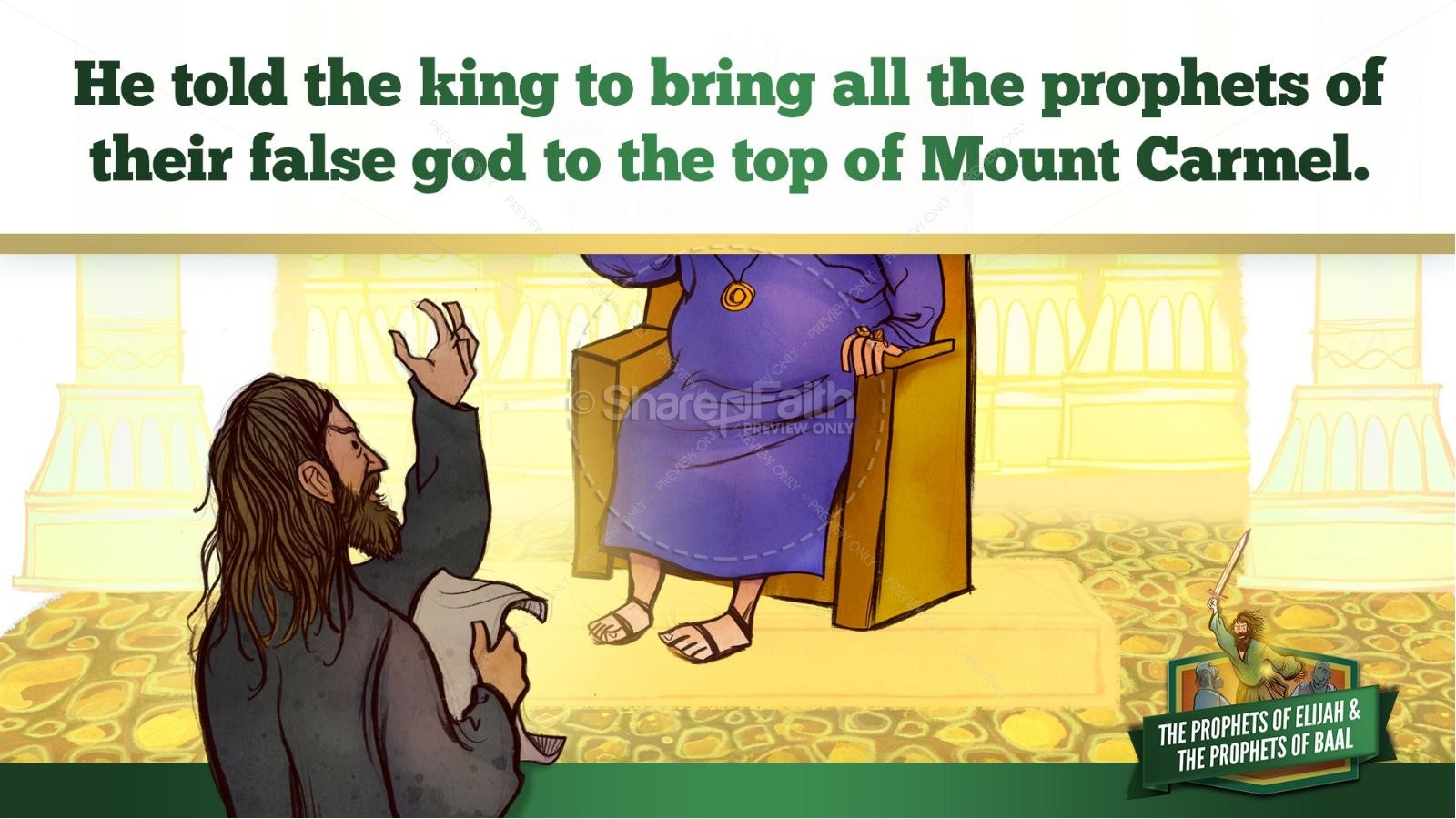 Elijah The Prophet 1 Kings 18 Kids Bible Stories | slide 16